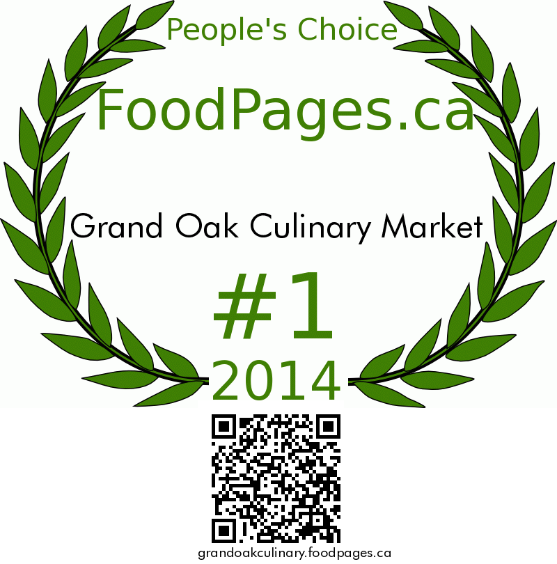 Grand Oak Culinary Market FoodPages.ca 2014 Award Winner
